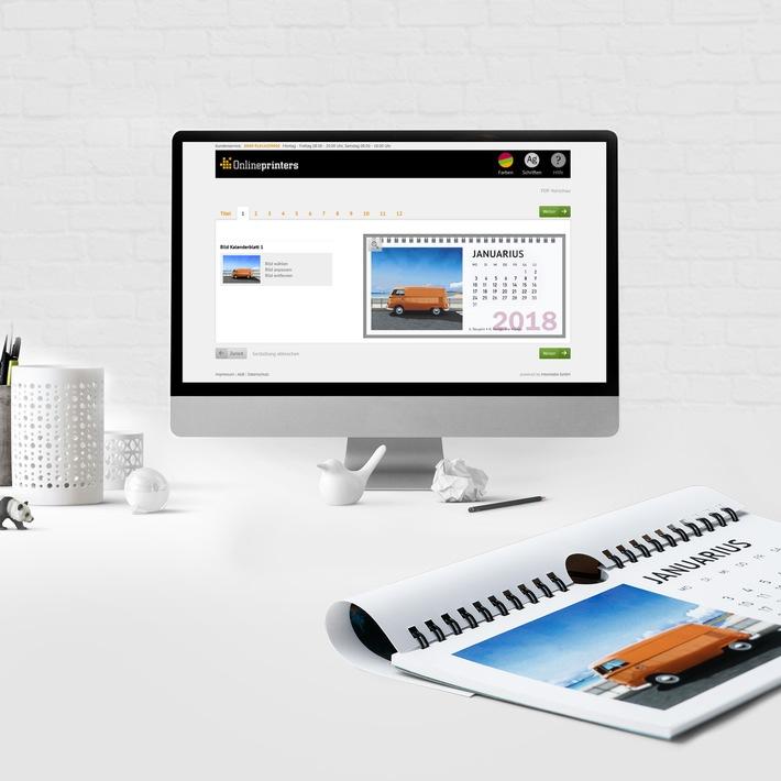Kalender 2018 im Browser selbst gestalten
