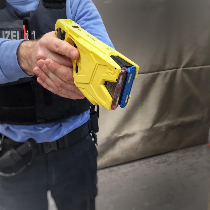 Polizei führt in Offenbach den Taser ein. Bildquelle: Polizeipräsidium Südosthessen