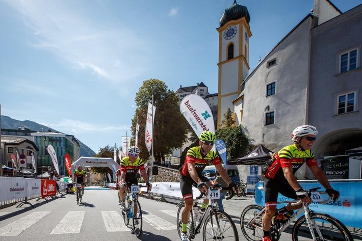 BILD zu OTS - Radsport vor der Kulisse der Festung Kufstein, wo von 27.-30. September die Weltelite startet.