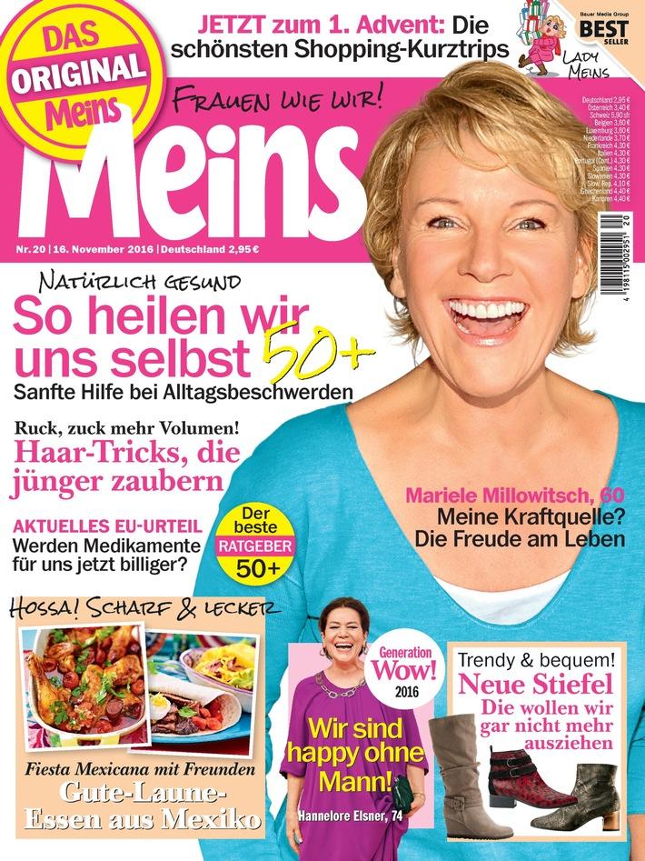 """Meins-Cover Ausgabe 19/2016 Weiterer Text über ots und www.presseportal.de/nr/106542 / Die Verwendung dieses Bildes ist für redaktionelle Zwecke honorarfrei. Veröffentlichung bitte unter Quellenangabe: """"obs/Bauer Media Group, Meins/Meins"""""""