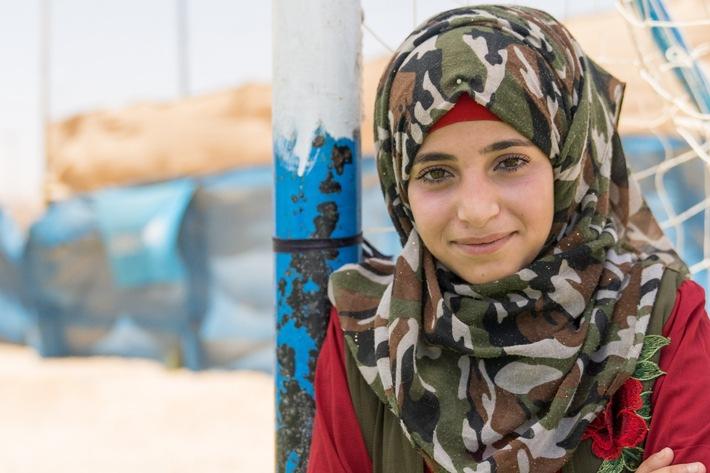 Syrisches Mädchen im Flüchtlingscamp Zaatari in Jordanien. © UNICEF/UN0212443/Herwig