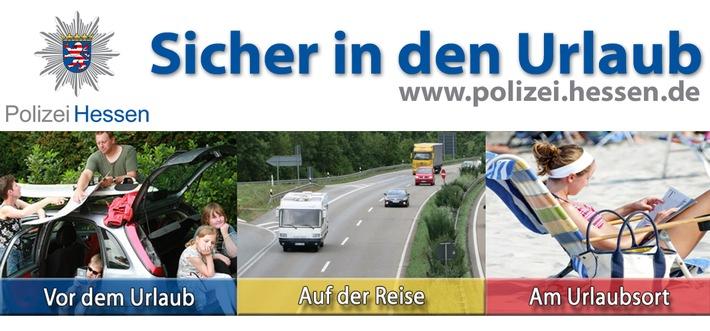 """Teaser der Polizei Hessen zum Präventionsthema """"Sicher in den Urlaub"""""""