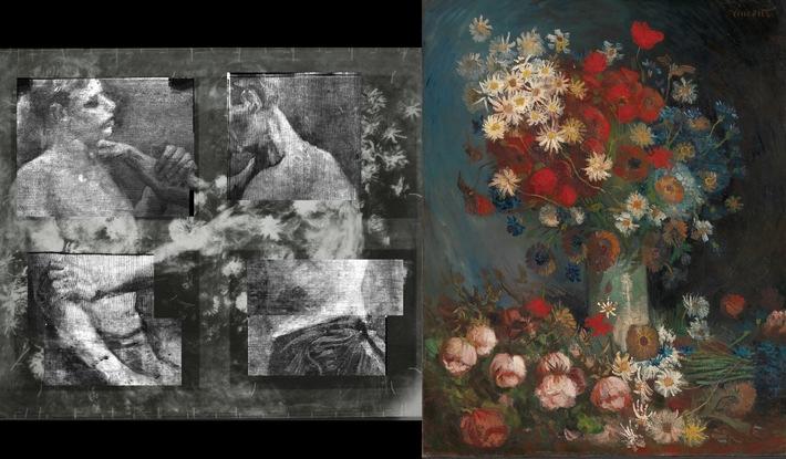 "Vincent van Gogh (1853-1890), Zwei Ringkämpfer hinter dem Blumenstillleben, Antwerpen, yanvar, 1886. Kröller-Müller Museum, Otterlo. Weiterer Text über ots und www.presseportal.de/nr/13059 / Bu şəkil istifadə redaksiya məqsədləri üçün pulsuzdur. mənbə sitat edin: ""obs/Niederländisches Büro für Tourismus & Convention (NBTC)"""