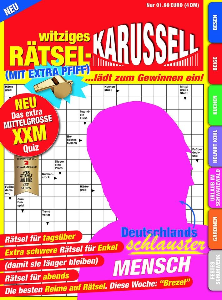 """Besonderer Preis zum Finale: """"Wer stiehlt mir die Show?""""-Sieger wird zur Rätsel-Ikone und gewinnt ein eigenes Rätselheft / ab Mittwoch überall im Zeitschriftenhandel (FOTO)"""