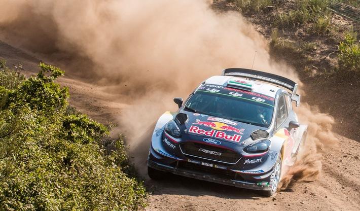 Zwei Nachwuchstalente fahren mit ihren Ford Fiesta WRC auf das Podest der WM-Rallye Portugal