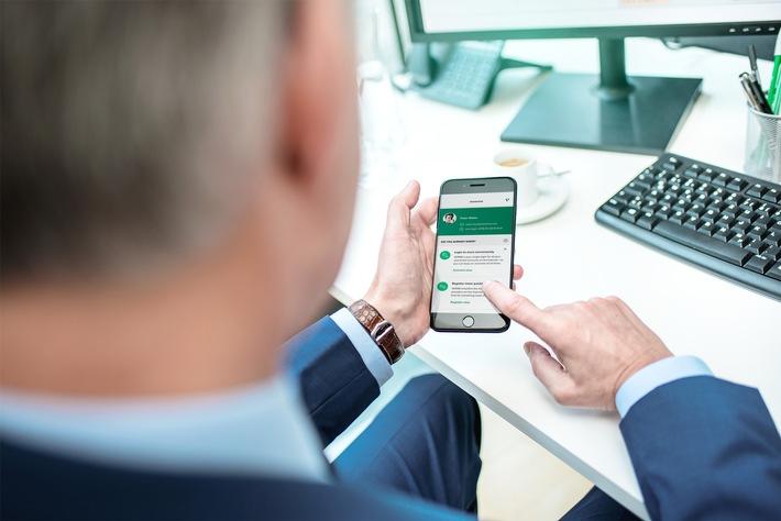"""The green button is online: VERIMI is gradually launching its ID and data platform. Weiterer Text über ots und www.presseportal.de/nr/128971 / Die Verwendung dieses Bildes ist für redaktionelle Zwecke honorarfrei. Veröffentlichung bitte unter Quellenangabe: """"obs/Verimi/André Forner"""""""