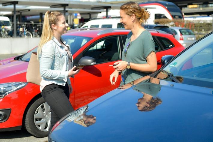 """Mobility lanciert die Mitfahr-App """"Mobility Carpool"""". Weiterer Text über ots und www.presseportal.ch/de/nr/100010161 / Die Verwendung dieses Bildes ist für redaktionelle Zwecke honorarfrei. Veröffentlichung bitte unter Quellenangabe: """"obs/Mobility Carsharing Schweiz"""""""