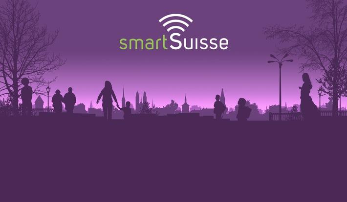 """SmartSuisse - Logo und Keyvisual / Weiterer Text über ots und www.presseportal.ch/de/nr/100060902 / Die Verwendung dieses Bildes ist für redaktionelle Zwecke honorarfrei. Veröffentlichung bitte unter Quellenangabe: """"obs/SmartSuisse/MCH Group"""""""