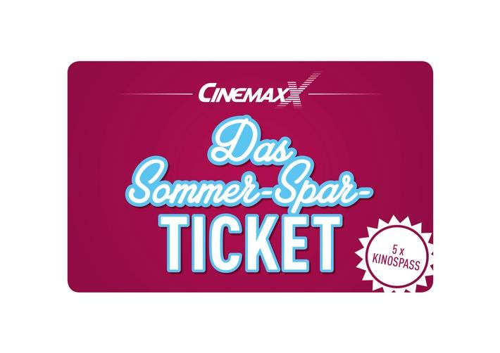 """Das CinemaxX Sommer-Spar-Ticket: Fünfmal Film, fünfmal Sparen, fünfmal Kino-Spaß für 27,90* Euro / Weiterer Text über ots und www.presseportal.de/nr/9588 / Die Verwendung dieses Bildes ist für redaktionelle Zwecke honorarfrei. Veröffentlichung bitte unter Quellenangabe: """"obs/CinemaxX Holdings GmbH"""""""