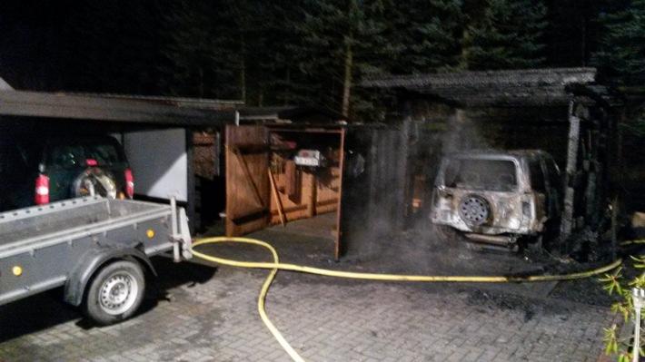 FW Lage: Caport in Flammen - 05.01.2017 - 04:23 Uhr