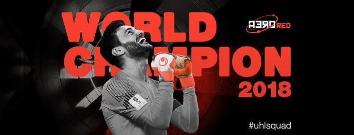 Hugo Lloris wird mit uhlsport Torwarthandschuhen Weltmeister / Hugo Lloris und Danijel Subasic trugen im WM-Finale 2018 Torwarthandschuhe von uhlsport