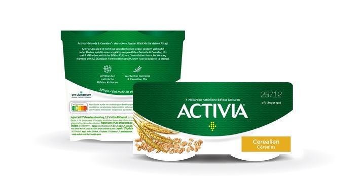 Design der Activia Verpackung mit dem