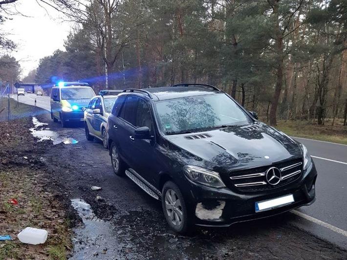 Der in Aachen gestohlene Mercedes GLE 350