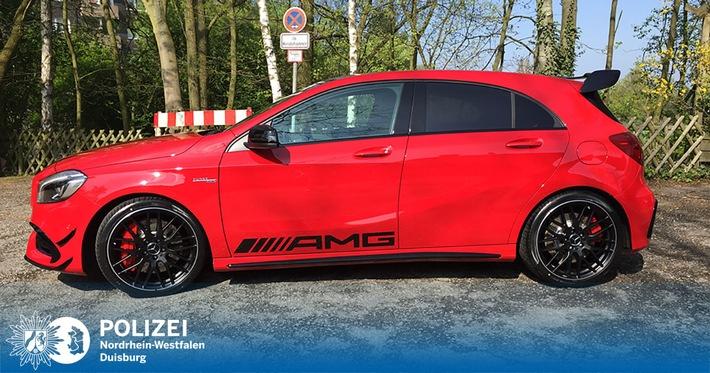 POL-DU: Rheinhausen: Roter AMG-Mercedes geklaut
