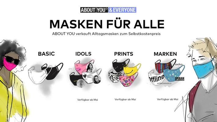 Más de 4 millones de máscaras de tela, desde básicas hasta elegantes: ACERCA DE USTED ofrece la mayor variedad de máscaras modernas de moda a un precio transparente