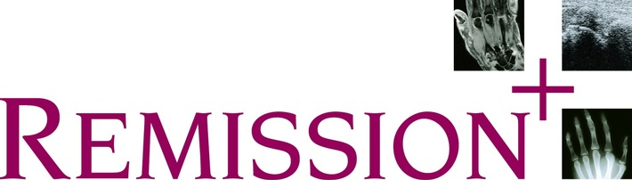 """10 Jahre REMISSION+: US-7-Score und RAMRIS-5: Neue Instrumente der modernen Bildgebung in der Rheumatologie. Logo der Initiative REMISSION+. Weiterer Text über ots und www.presseportal.de/nr/112983 / Die Verwendung dieses Bildes ist für redaktionelle Zwecke honorarfrei. Veröffentlichung bitte unter Quellenangabe: """"obs/AbbVie Deutschland GmbH & Co KG"""""""