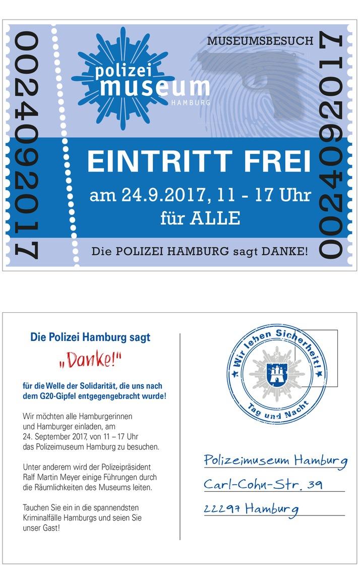 """POL-HH: 170920-2. Die Polizei Hamburg sagt """"Danke"""" - Freier Eintritt im Polizeimuseum"""