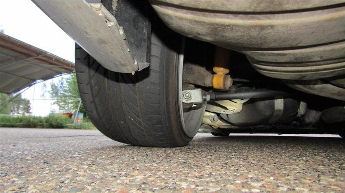 POL-PDKL: BMW im Camber-Style aus dem Verkehr gezogen