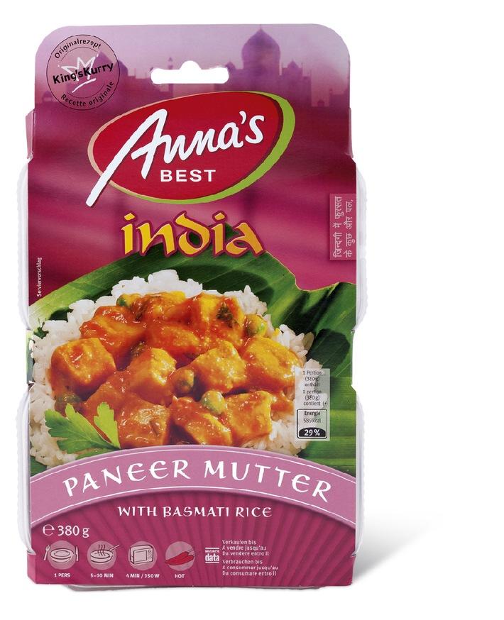 """Migros richiama i prodotti Anna's Best """"India Paneer Mutter"""" e """"India Madras Fish Curry"""" / pericolo per le persone allergiche a pesce e senape."""