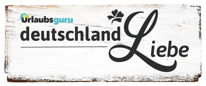 Die neue Rubrik deutschlandLiebe auf Urlaubsguru zeigt, wie vielseitig und einzigartig Deutschland ist. Foto: Printversion des Logos)