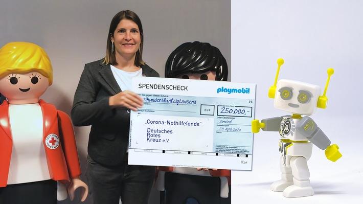 Großspende aus Playmobil Charity-Aktion: 250.000 Euro für Corona-Nothilfefonds des DRK