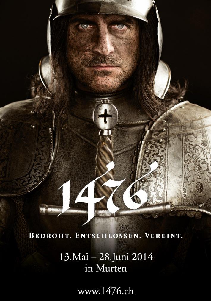 1476 - Bedroht. Entschlossen. Vereint. / Die Geschichte um die Murtenschlacht auf Originalboden inszeniert (BILD)