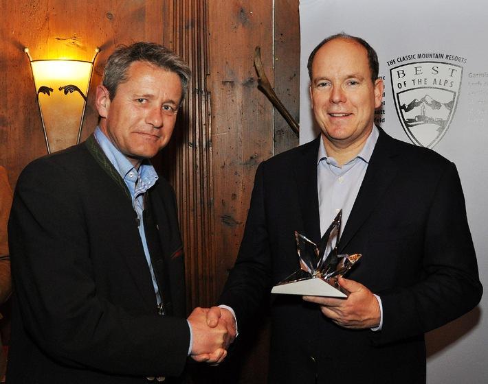 """Prinz Albert II. von Monaco in Seefeld mit dem """"Best of the Alps""""-Award ausgezeichnet - BILD"""