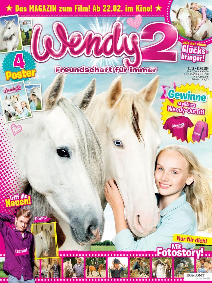 Zum Filmstart des zweiten Wendy-Kinoabenteuers erscheinen neue Magazine bei Egmont