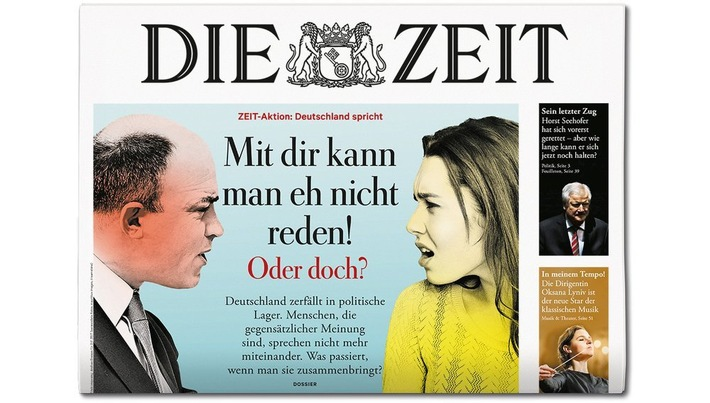 DIE ZEIT 39/18 / Weiterer Text ber ots und www.presseportal.de/nr/9377 / Die Verwendung dieses Bildes ist fr redaktionelle Zwecke honorarfrei. Verffentlichung bitte unter Quellenangabe: