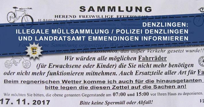 POL-FR: Denzlingen: Illegale Schrottsammlung / Landratsamt Emmendingen und Polizeiposten Denzlingen informieren