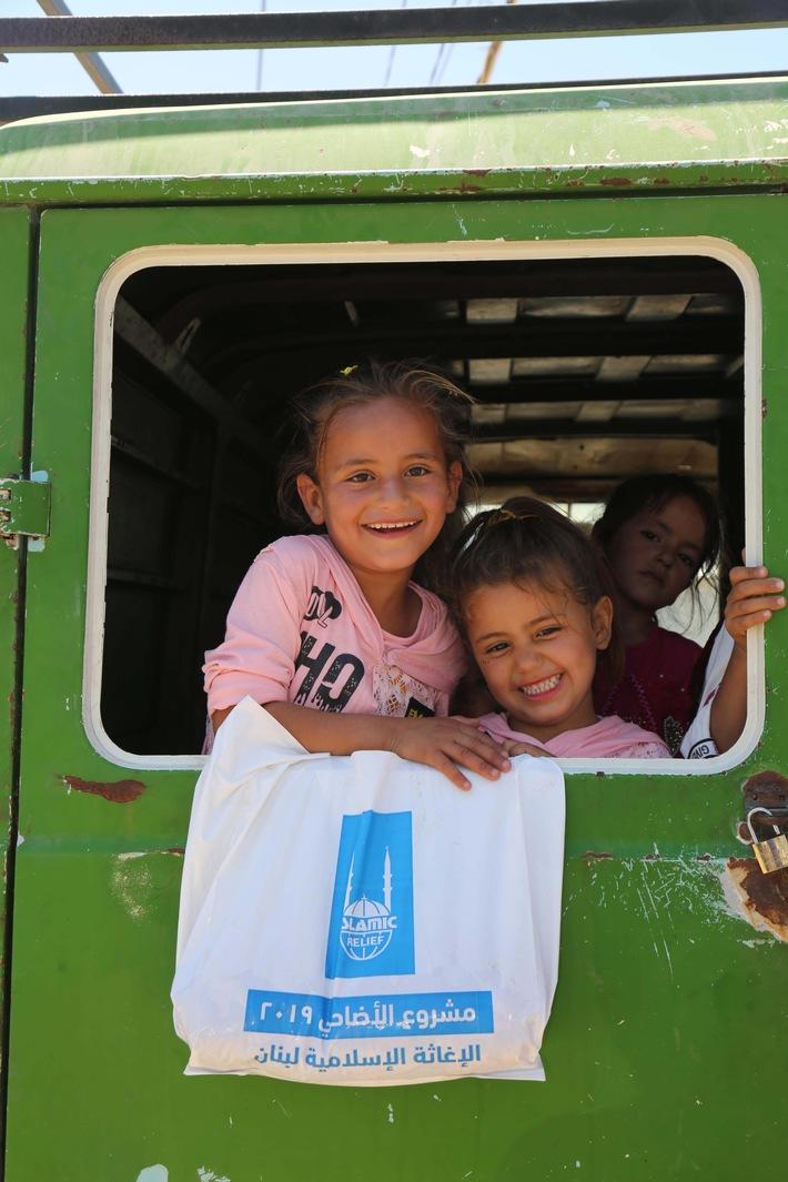 Kinder in einem Camp für Geflüchtete im Libanon Islamic Relief.jpg