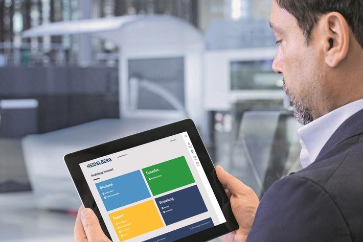 Heidelberg geht neue Wege in der digitalen Kundenbetreuung: Serienstart des Heidelberg Assistant