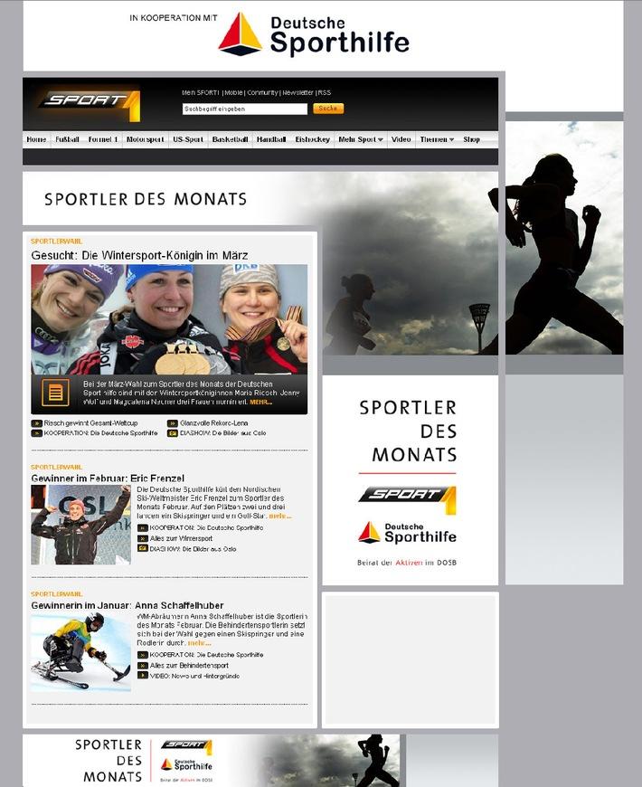 """SPORT1 neuer Partner bei Wahl """"Sportler des Monats"""" (mit Bild)"""