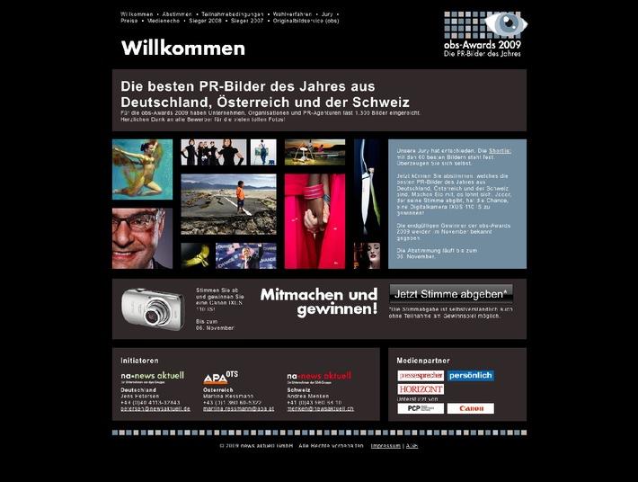 obs-Awards 2009: Die besten PR-Bilder des Jahres stehen zur Abstimmung bereit