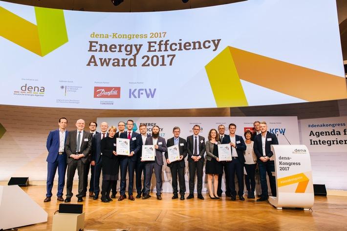 Energy Efficiency Award 2017: ALDI, AIXTRON und FLVW erhalten Energieeffizienzpreis
