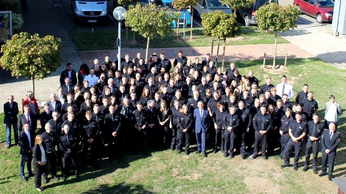 Die Polizeidirektion Göttingen begrüßt 141 neue Mitarbeiterinnen und Mitarbeiter.