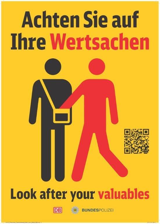 Symbolfoto: Prävention Taschendiebstahl-