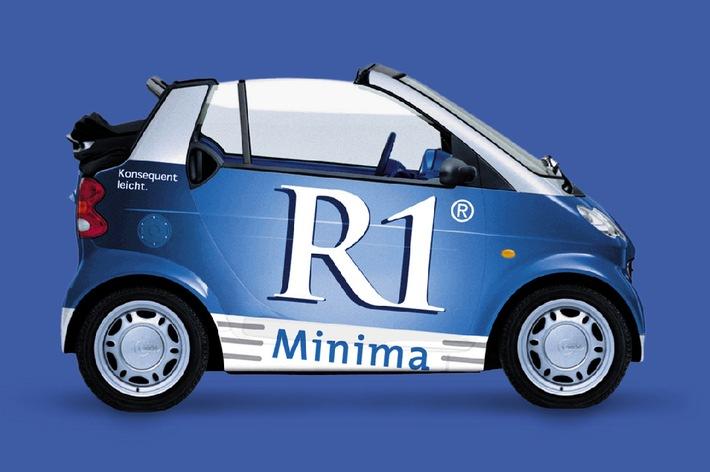 Ab dem 03.05.01 kann man auch unter www.R1Minima.de die leichte Seite des Lebens entdecken. Unter den Rubriken Konsequent leicht rauchen, Leicht durch das Jahr und R1 Minima Services finden sich Tipps, Adressen, Informationen und Dienstleistungen, die das Leben erleichtern. Exklusives Special: Auf der Gewinnspiel-Seite gibt es bis zum 30.06.01 ein R1 Minima Smart Cabrio zu gewinnen.