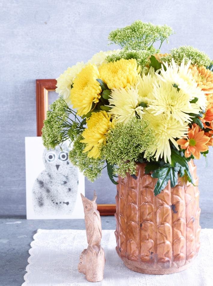 """Im Zeichen der Chrysantheme / Natur pur: """"Back to the roots"""" mit der Chrysantheme"""
