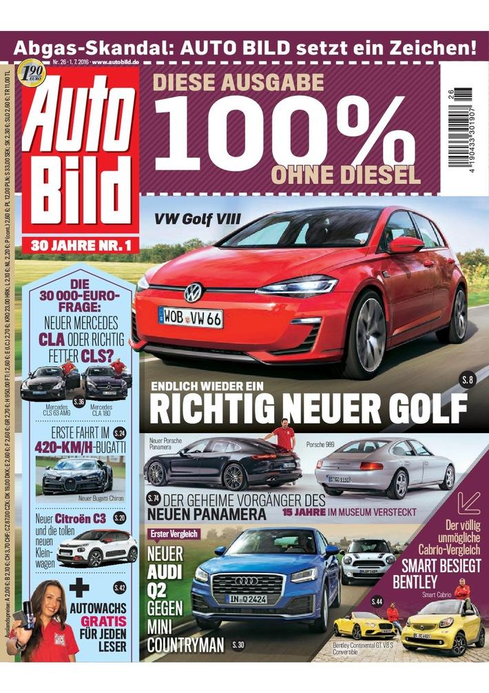 Nach Abgasskandal: Aktuelle AUTO BILD-Ausgabe verzichtet auf Diesel-Fahrzeuge