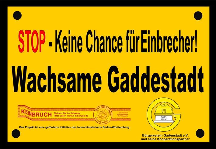 Mannheim: Informationsstand der Polizei zum Thema Einbruchschutz, Projekt
