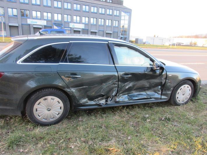 beteiligter Audi des 23-jährigen Höxteraners
