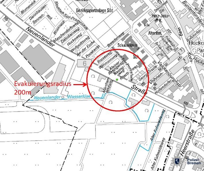 POL-HB: Nr.: 0333--Granatensprengung in der Neustadt--