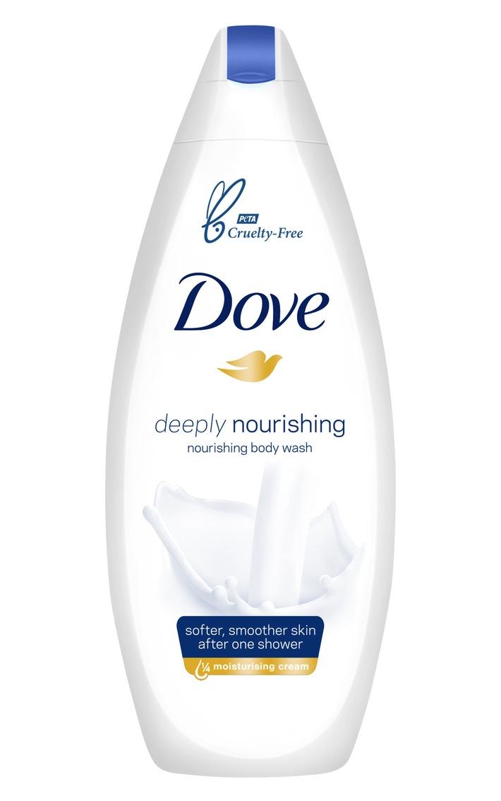 """Im Rahmen einer neuen Zusammenarbeit mit der globalen Tierschutzorganisation Humane Society International (HSI) unterstützt Unilever ein weltweites Verbot von Tierversuchen für Kosmetika. Ziel ist es, Gesetzesreformen in Schlüsselmärkten zu erwirken, die Tierversuche für Kosmetika unterbinden.  Als weiteres wichtiges Beispiel für sein Engagement hat Unilever kürzlich bekannt gegeben, dass Dove - Unilevers größte Marke im Bereich Beauty & Personal Care - von PETA als tierversuchsfreie Marke zertifiziert wurde. Ab Anfang 2019 werden Dove Produkte das PETA-Cruelty-Free-Logo auf der Verpackung tragen. Weiterer Text über ots und www.presseportal.de/nr/24435 / Die Verwendung dieses Bildes ist für redaktionelle Zwecke honorarfrei. Veröffentlichung bitte unter Quellenangabe: """"obs/Unilever Deutschland GmbH/Unilever / Dove"""""""