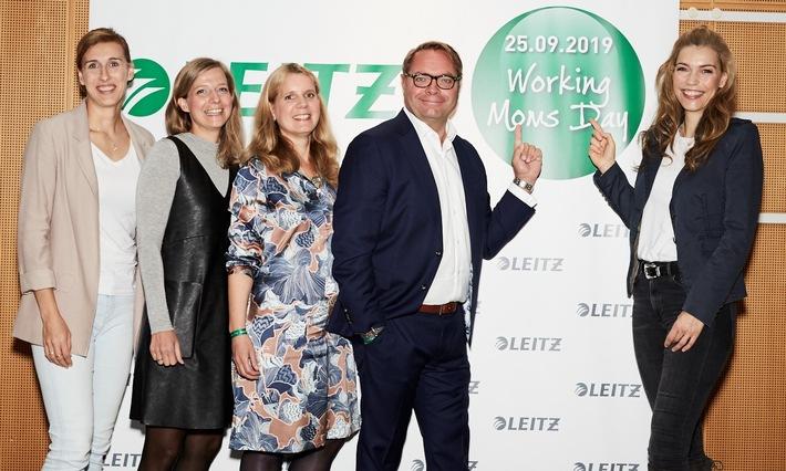 """Erster """"Working Moms Day"""" von LEITZ: ein Format gegen den Spagat / LEITZ Working Moms Day:(v.l.n.r.) Anett Szigeti (Diplom-Psychologin), Annette Rompel (Chefredakteurin Working@Office), Wendela Freiesleben (Marketing Director Central Europe), Ard-Jen Spijkveret (Vice President Central Europe), Annett Möller (TV-Moderatorin und Schirmherrin). Weiterer Text über ots und www.presseportal.de/nr/133816 / Die Verwendung dieses Bildes ist für redaktionelle Zwecke honorarfrei. Veröffentlichung bitte unter Quellenangabe: """"obs/LEITZ ACCO Brands GmbH & Co KG/Wiebke Pätz"""""""