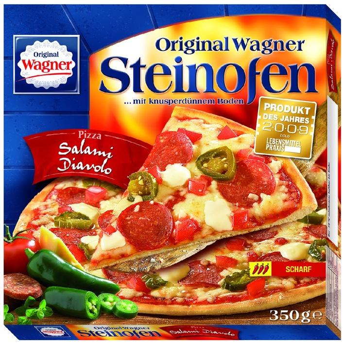 Die Verbraucher lieben es scharf / Produkt des Jahres 2009: Wagner Steinofen-Pizza Salami Diavolo