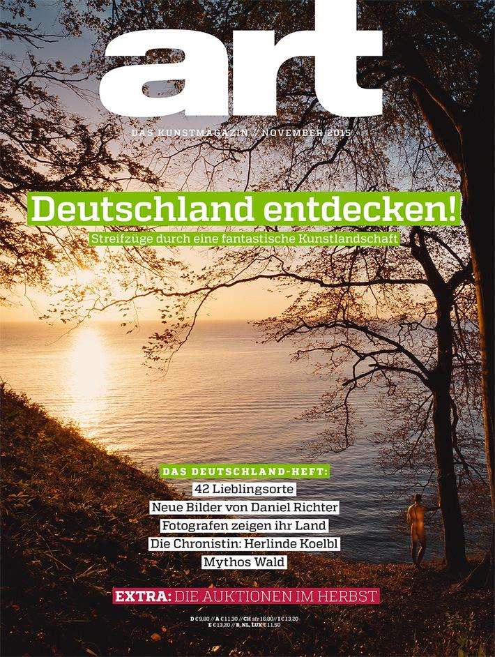 """Cover ART (11/2015) / Weiterer Text über ots und www.presseportal.de/nr/7370 / Die Verwendung dieses Bildes ist für redaktionelle Zwecke honorarfrei. Veröffentlichung bitte unter Quellenangabe: """"obs/Gruner+Jahr, art"""""""