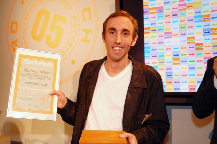 meteoblue.ch gagne le prix promotionnel de l'Innovation 2005 de SWITCH