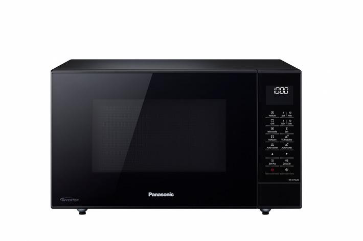 in Panasonic Kombigeräte NN-CT56 und NN-CT57 zum Backen, Auftauen, Grillen und GarenMit vielen Extras sorgen die neuen Kombi-Mikrowellen im Slim Design für eine optimale Zubereitung