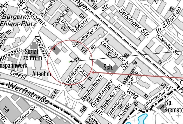 Karte Granatensprengung 20.02.2018